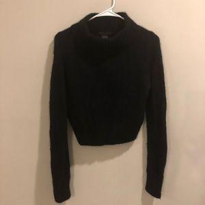 Guess cashmere sweatshirt cropped black